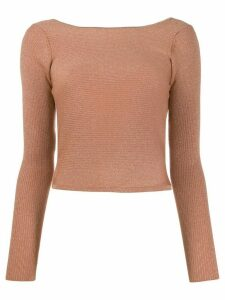 Forte Forte metallic low-back knitted top - NEUTRALS