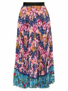 Mary Katrantzou floral print pleated midi skirt - PINK