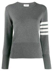 Thom Browne 4-Bar Classic Crew Neck Jumper - Grey