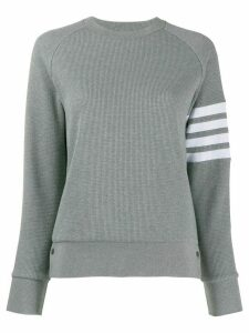 Thom Browne 4-Bar Raglan Sleeve Sweatshirt - Grey