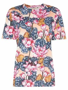 Mary Katrantzou Tiery floral print T-shirt - Blue