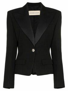 Alexandre Vauthier embellished-button peak lapel blazer - Black
