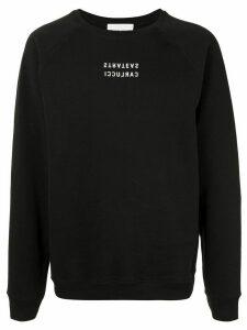 Strateas Carlucci signature normcore sweatshirt - Black