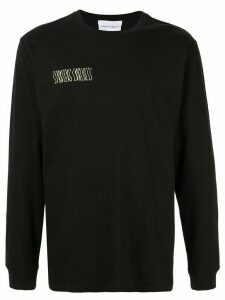 Strateas Carlucci Defect mirrored artwork sweatshirt - Black