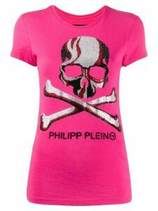 Philipp Plein round neck SS skull T-shirt - PINK