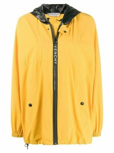 Givenchy oversized logo stripe windbreaker - Yellow