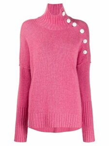 Zadig & Voltaire dropped shoulder turtle neck jumper - PINK