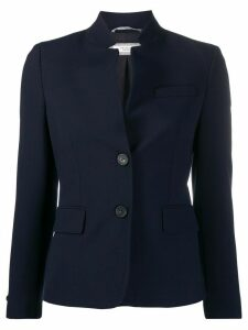 Peserico slim-fit high-collar blazer - Blue