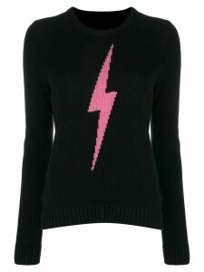 Zadig & Voltaire Delly lightning bolt pattern jumper - Black