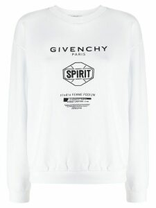 Givenchy Spirit print crew neck sweatshirt - White