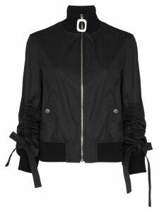 JW Anderson square zip high neck bomber jacket - Blue