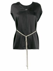 Rick Owens drawstring-waist V-neck blouse - Black