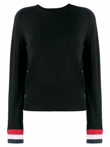 Thom Browne pointelle stitch crew neck jumper - Blue