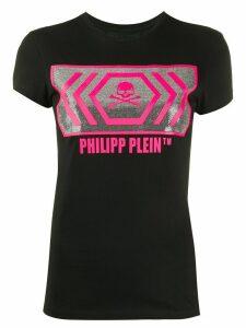Philipp Plein logo T-shirt - Black