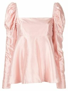Macgraw Romantic puff sleeve top - PINK