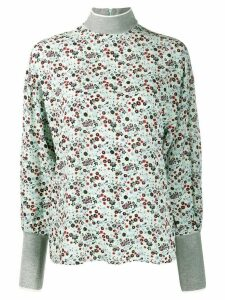 Essentiel Antwerp Vocal floral-print top - Green