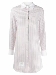 Thom Browne long striped shirt - White