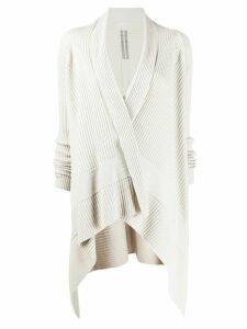 Rick Owens ribbed open-front cardigan - NEUTRALS