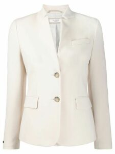 Peserico slim-fit high-collar blazer - NEUTRALS