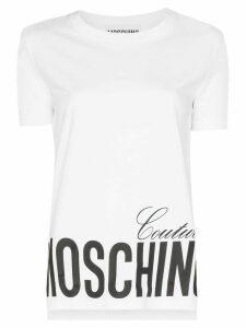 Moschino logo print T-shirt - White
