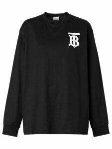Burberry long-sleeve monogram motif T-shirt - Black