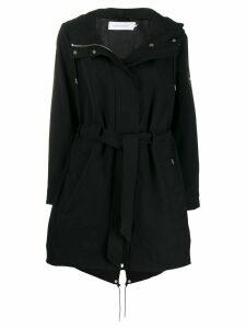 Calvin Klein Tie-waist parka coat - Black