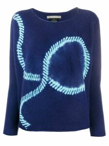 Suzusan abstract printed knitted jumper - Blue