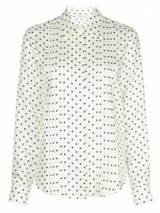 Gabriela Hearst polka-dot pleated blouse - White