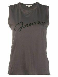 Nili Lotan 'forever' logo tank top - Grey