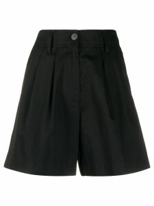 Forte Forte high-waisted tailored-style shorts - Black