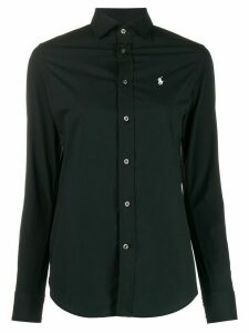 Polo Ralph Lauren logo embroidered fitted shirt - Black