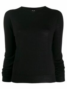 Rick Owens regular-fit crew-neck pullover - Black