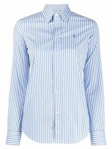 Polo Ralph Lauren logo embroidered striped shirt - White