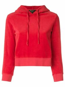 Juicy Couture velour shrunken hooded pullover - Red