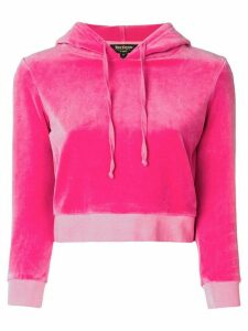 Juicy Couture velour shrunken hooded pullover - PINK