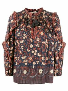 Ulla Johnson Azelea tassel peasant blouse - Blue