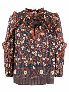 Ulla Johnson Azelea tassel peasant blouse - Blue