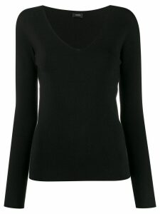 Joseph long-sleeve fitted jumper - Black