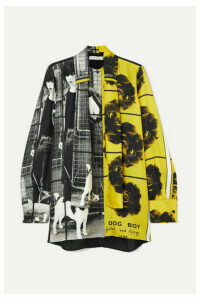 JW Anderson - + Gilbert & George Printed Silk-twill Shirt - Gray