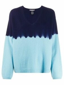 Suzusan colour block jumper - Blue