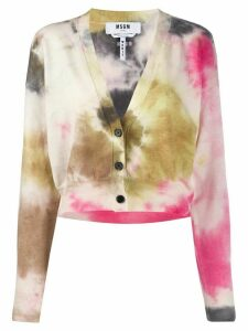 MSGM cropped tie-dye cardigan - Green