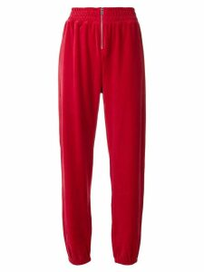 Juicy Couture Swarovski velour zip track pants - Red