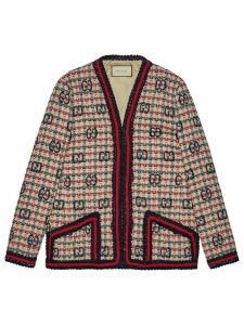 Gucci GG tweed jacket - White