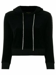 Juicy Couture Exclusive Swarovski embellished velour hoodie - Black