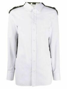 Maison Margiela geometric lace back shirt - White