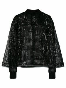 Talbot Runhof Tamora cape jumper - Black