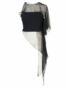 Cushnie one shoulder asymmetrical top - Blue