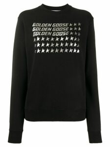 Golden Goose logo print long sleeve sweatshirt - Black