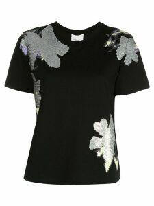 3.1 Phillip Lim floral sequin T-shirt - Black