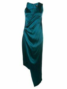 Cushnie asymmetric silk twist dress - Blue